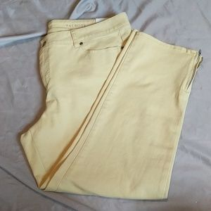 NWT Yellow Talbots Slim Crop Signature Jeans - 16